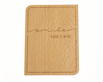 Bottle label (smile-there s wine)