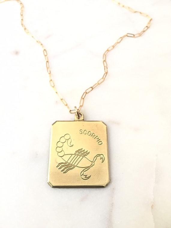 Vintage scorpio necklace