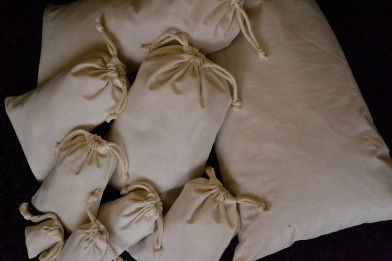 2x3 Inches Cotton Muslin Bags 100/% Organic Cotton Double Drawstring Premium Quality Eco Friendly Reusable Natural Bags.