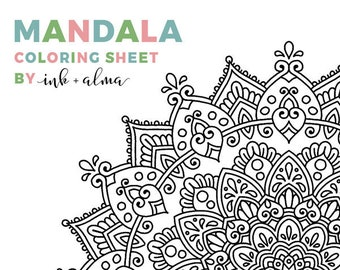 mandala coloring sheet by inkalma digital download