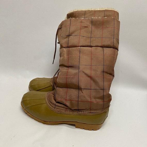 Pappagallo Vintage Duck Snow Boots sz 10 80's