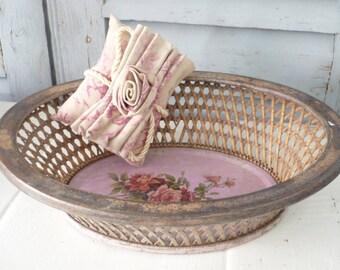 French enamel Bread Basket