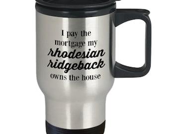 Rhodesian ridgeback travel mug stainless steel tumbler 14oz