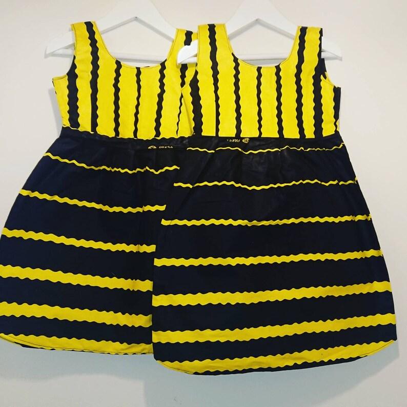 wasp Girls summer dress kids Halloween costume African print dress girls dress Kwanzaa