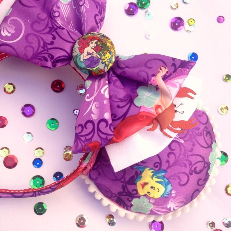 ariel Disney ears Minnie ears Purple little mermaid inspired ears mouse ears