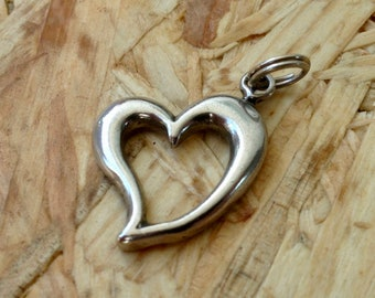 Vintage Sterling Heart Pendant/ Charm