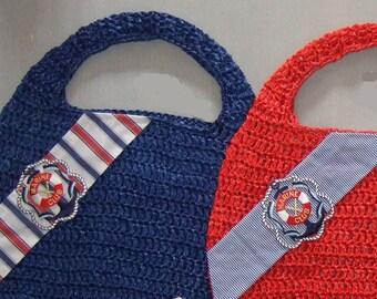 Bag raffia Crochet