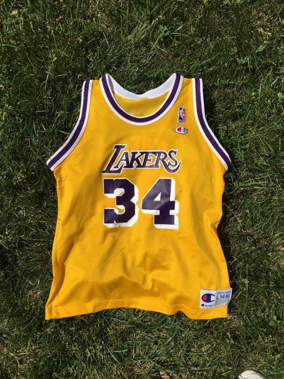 687407e82efc Vintage Champion Los Angeles Lakers Shaquille O Neal