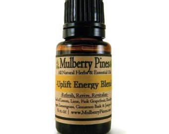 Uplift Energy Essential Oil Blend - 1/2 Ounce Bottle - Mulberry Pines