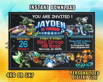 Skylander invitation Etsy