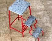 Folding Step Stool. Industrial Step Ladder. Bar stool. Accent chair.