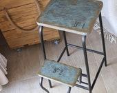 Step stool adult, Industrial Stool, Plant Stand, Blanket Ladder, Kitchen Island, Bar Stool, Industrial Furniture, Step ladder, Step Stool