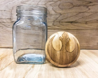 Star Wars Rebel Alliance - Glass Jar with Wood Top - 7.5fl oz
