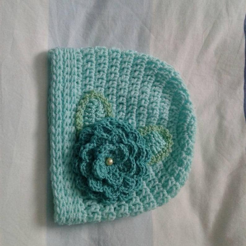 Beanie Hat with flower