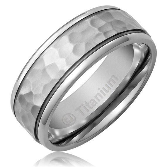 Mens Titanium Wedding Band Titanium Ring Wedding Ring Mens Etsy