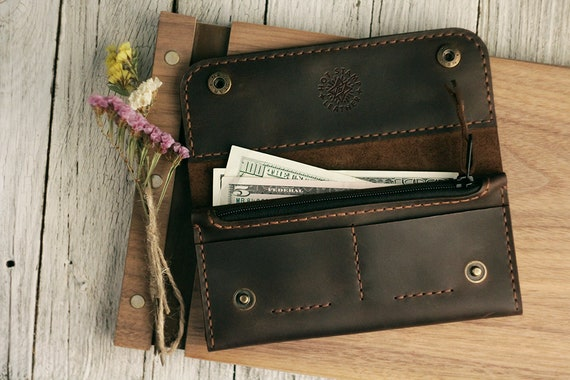 6291c350186a Leather waller   Personalized Wallet   Gift For Her