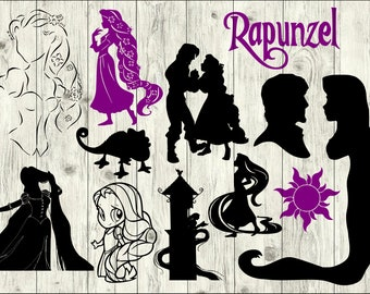 Rapunzel Tower Silhouette