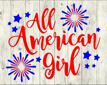 All American Girl SVG Bundle, American Girl cut file, usa clipart, usa svg files for silhouette, usa files for cricut, usa svg, usa dxf, eps