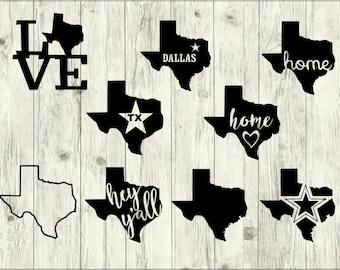 Texas SVG Bundle, Dallas svg bundle, Texas cut file, Texas clipart, Texas svg files for silhouette, TX files for cricut, svg, dxf, eps, png