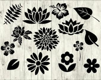 Flower SVG Bundle, Rose SVG bundle, Flower cut file, Flower clipart, Flower svg files for silhouette, files for cricut, svg, dxf, eps, png