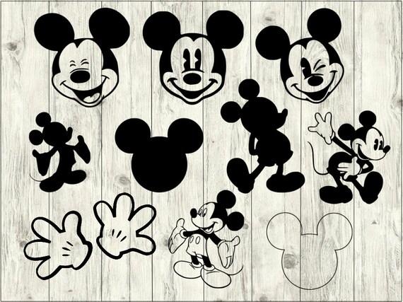 Mickey Mouse Svg Bundle Disney Svg Bundle Disney Cut File Etsy
