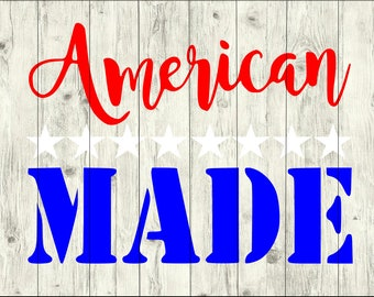 American Made SVG Bundle, America cut file, usa clipart, usa svg files for silhouette, usa files for cricut, usa svg, usa dxf, usa eps, png