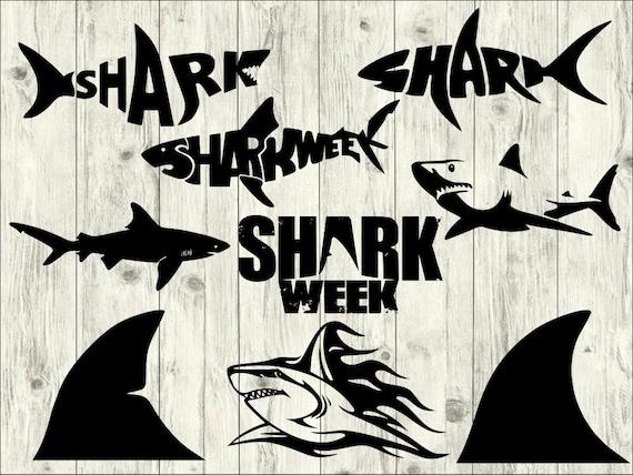 shark svg Clip Art Bundle boy shark Clipart Shapes shark head cutting Cricut Cameo Shark Silhouettes SVG shark DXF Cut Files