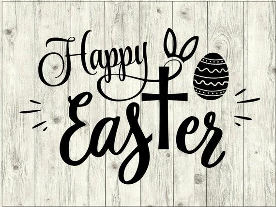 Happy Easter Svg Bundle Happy Easter Cut File Easter Etsy