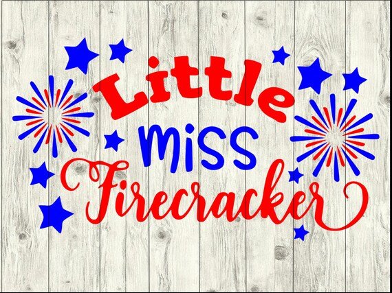 Little Miss Firecracker Svg Bundle America Svg Bundle Cut Etsy
