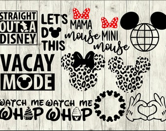 Disney World SVG Bundle, Disney SVG bundle, Disney cut file, Disney clipart, svg files for silhouette, files for cricut, svg, dxf, eps, png
