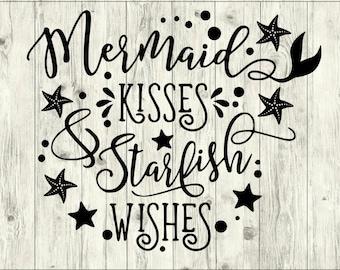 Mermaid Kisses SVG Bundle, Mermaid SVG bundle, Mermaid cut file, Mermaid clipart, svg files for silhouette, files for cricut, svg, dxf, eps