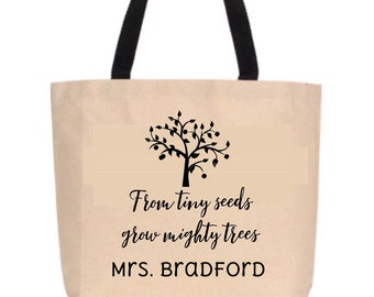 Mighty Trees Teacher Tote: PERSONALIZED