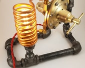 Steampunk Meco Acetylene Regulator Valve Lamp Model Four
