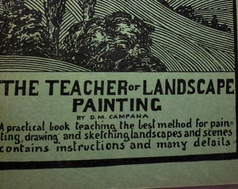 1944 The Teacher of Landscape Painting By D.M. Campana