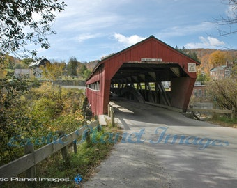Entrance to a Covered Bridge in Vermont