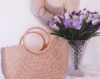 Straw bag, handwoven, straw beach bag, straw handbag, straw basket, beach, summer, gift, gift for her