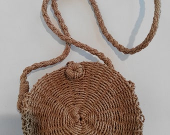 Handmade small straw bag, straw shoulder bag, straw crossbody bag, gift, gift for her