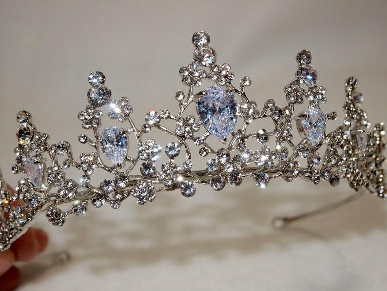 Gorgeous Sparkling AUSTRIAN CRYSTAL Silver CROWN bridal crown princess crown Wedding Crown