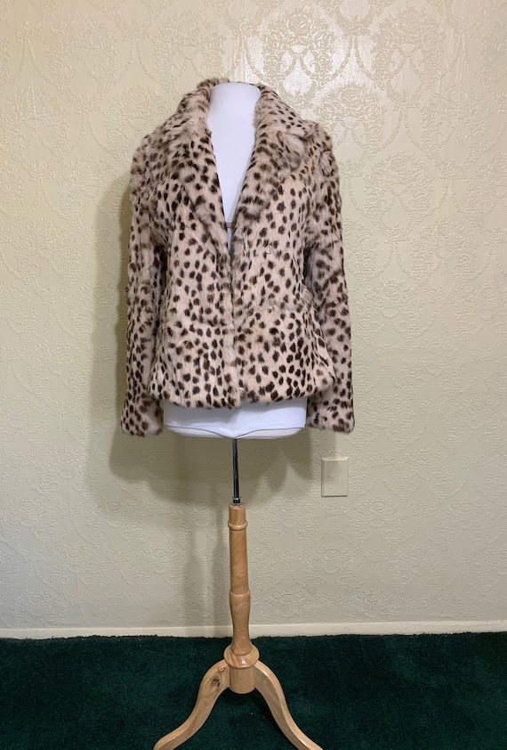 Genuine Fur Sz Medium LEOPARD PRINT FUR Coat Anima
