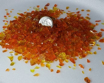 Crushed glass Burnt Orange  1# package  Size 1