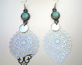 Earrings filigree with swarovski