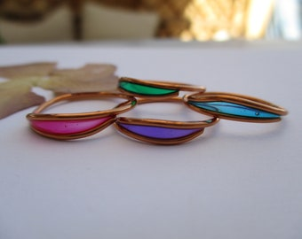 simple ring Wire jewelry handmade ring Boho jewels Original gift for women. Brass ring reversible ring