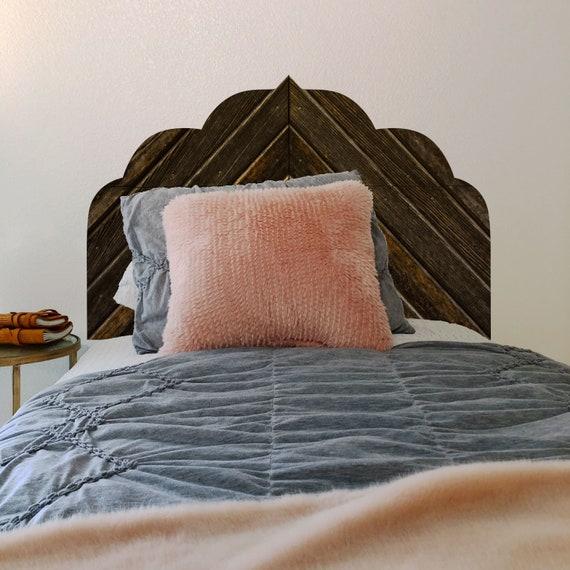 Wallpaper Headboard Decal Wood Peel And Stick Wallpaper Etsy