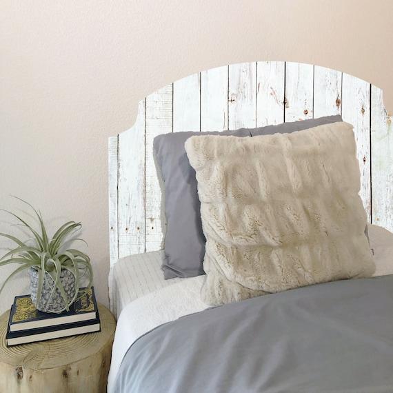 Wallpaper Headboard Wood Picket Fence White Peel Stick Etsy