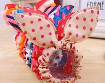 2- Pack of Polka Dot Rabbit Ears Scrunchies