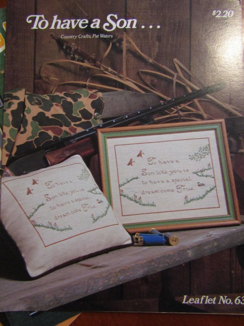 Set of 3 Cross Stitch Leaflets
