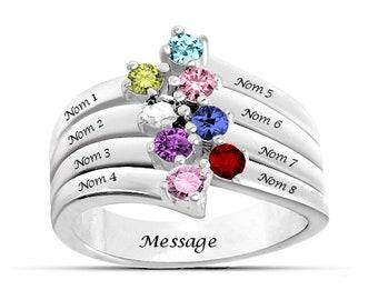Personalized stylish family ring