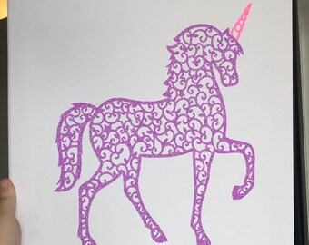 Unicorn girls bedroom