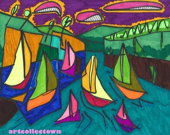 Drawing by artcollectown: Sail I (2014)