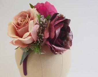 Binissalem silk flower headband
